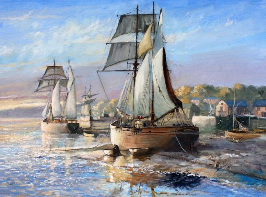 Drying Sails by Michael Dayley