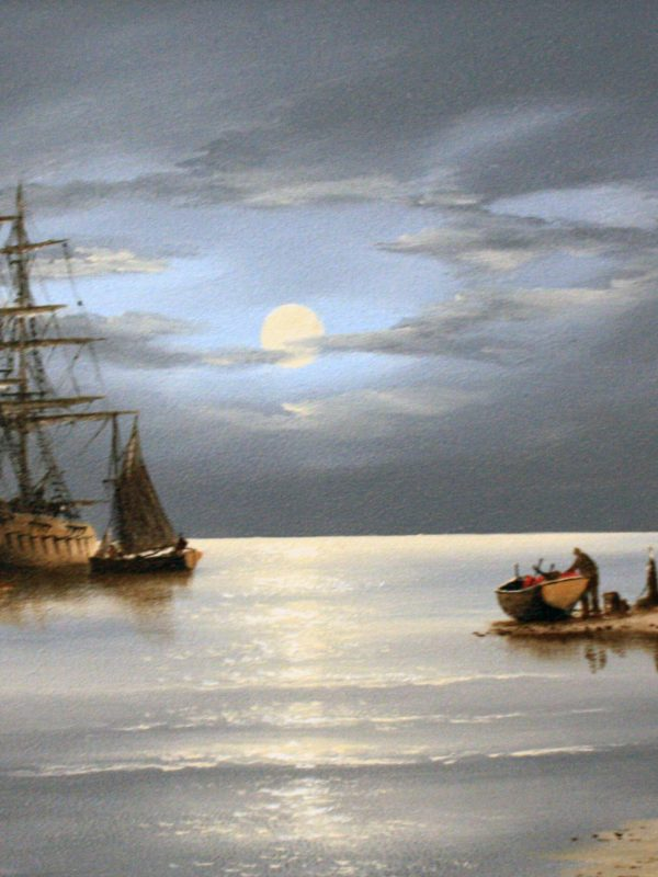 Moonlit Anchorage by Alex Hill