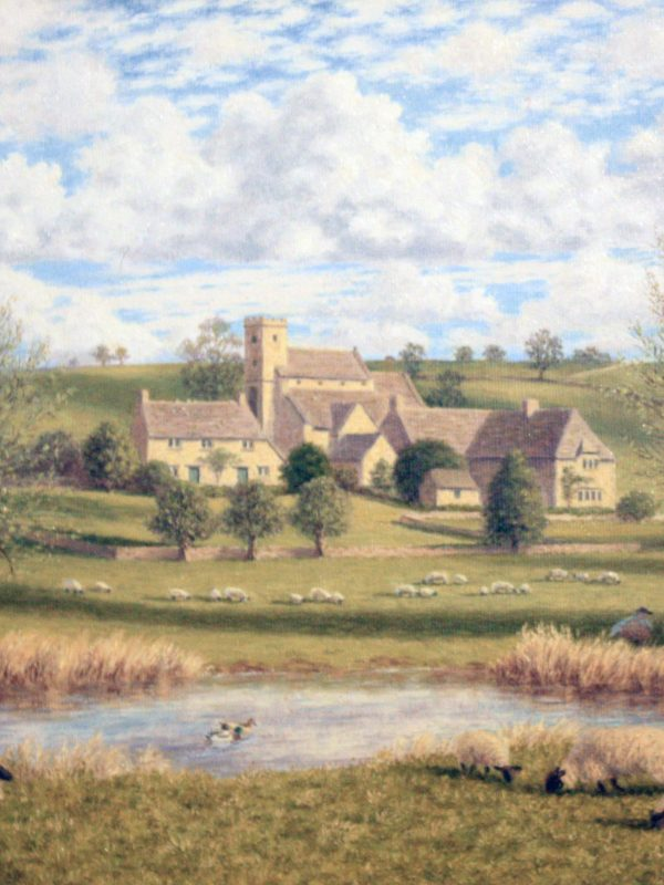 Overlooking Naunton in the Cotswolds by Lawrence Udall