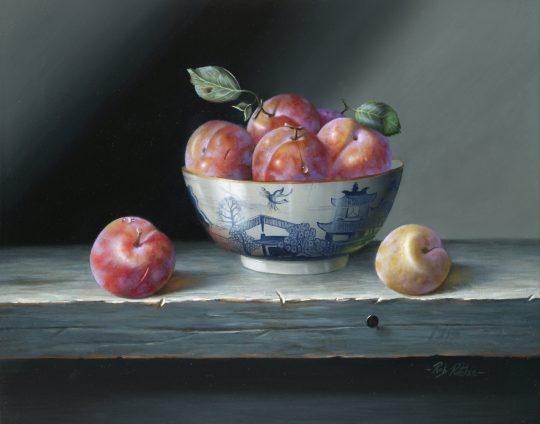 Songold Plums & Bowl by Rob Ritchie
