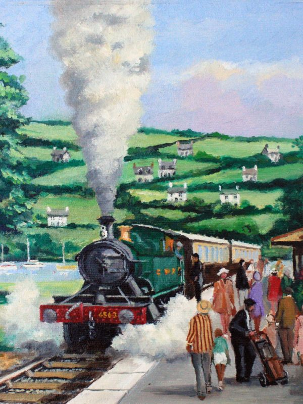 Arrival at the Country Station by Alan King