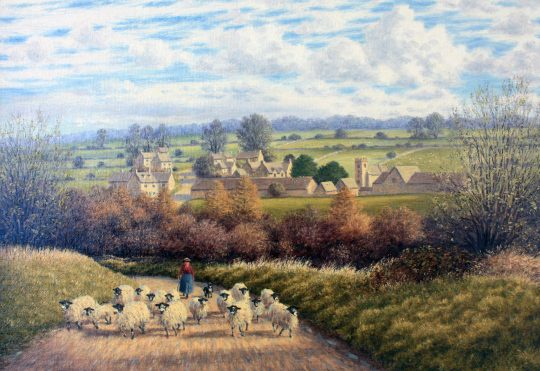 Overlooking Cutsdean Cotswolds by Laurence Udall