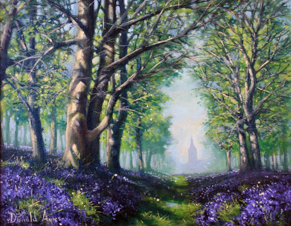 Pathway through the Bluebells by Donald Ayres