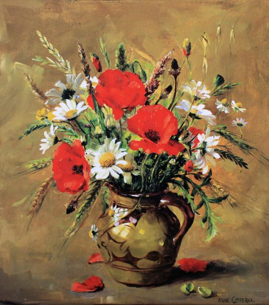 Poppies and Cornfield Flowers by Anne Cotterill