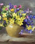 Primroses and Bluebells by Anne Cotterill