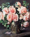 Roses in the Old Silver Coffee Pot by Anne Cotterill