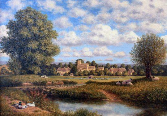 Swinbrook near Burford by Laurence Udall