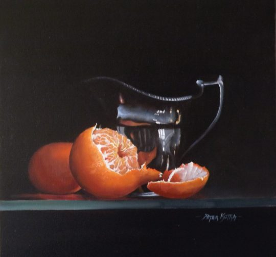 Clementines and Silver Jug