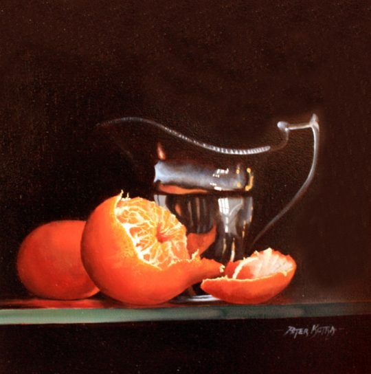 Clementines and Silver Jug by Peter Kotka