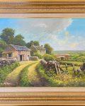 Cutthorpe Lane original painting by artist Donald Ayres