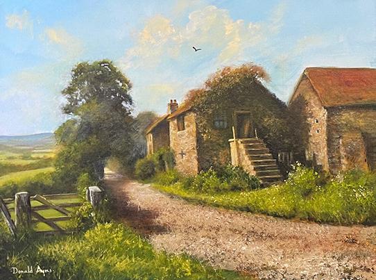 Dales Summer an original painting by Donald Ayres