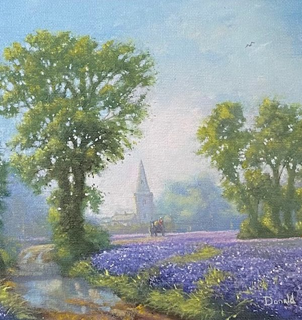 Lane with Bluebells by Donald Ayres 2